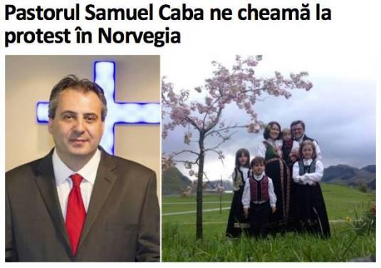 Pastorul Samuel Caba ne Cheama la protest in Norvegia Photo Aradon.ro