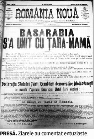 Ziarele despre Actul Uniri