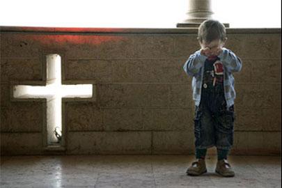 Christian boy in Iraq